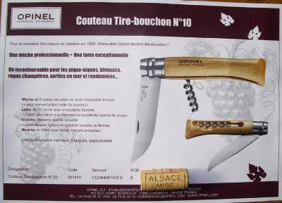 COUTEAU OPINEL TIRE BOUCHONS